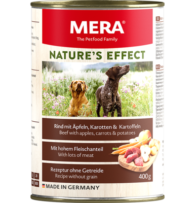 16:MERA NATURE'S EFFECT Beef wet food with apples, parsnips & potatoes