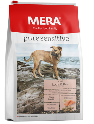 12:MERA pure sensitive Salmon & rice a type of fish and a source of carbohydrate