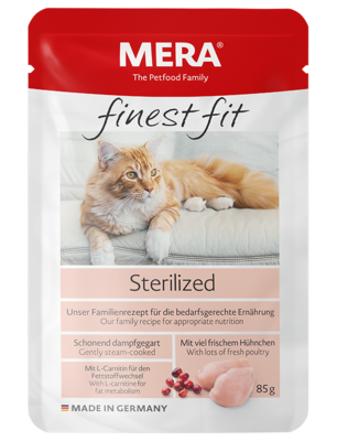 22:MERA finest fit Sterilized Wet food for sterilised or castrated cats