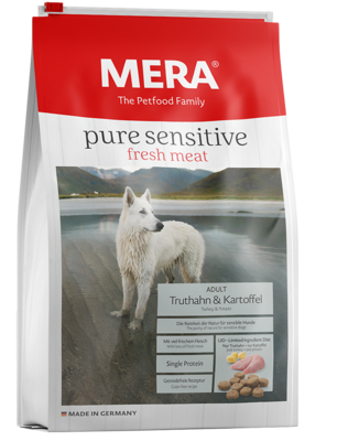 12:MERA pure sensitive fresh meat Truthahn & Kartoffel für sensible aktive Hunde