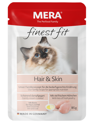 22:MERA finest fit Hair&Skin Wet food for cats with skin or coat problems
