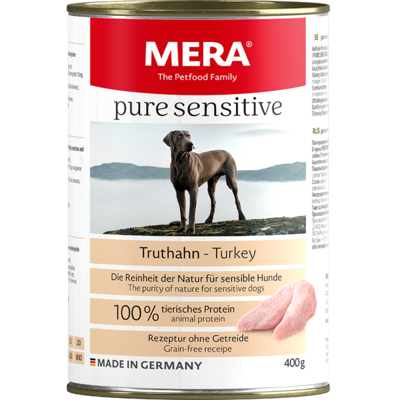 12:MERA pure sensitive Truthahn Nassfutter 100% tierisches Protein für sensible Hunde