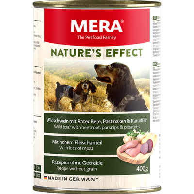 16:MERA NATURE'S EFFECT Wild boar wet food with beetroot, parsnips & potatoes