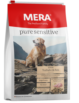 12:MERA pure sensitive Senior Truthahn & Reis für ältere sensible Hunde