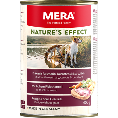 16:MERA NATURE'S EFFECT Duck wet food with rosemary, carrots & potatoes