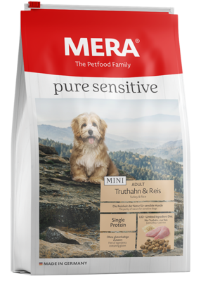 12:MERA pure sensitive Mini Truthahn & Reis für sensible kleine Hunde