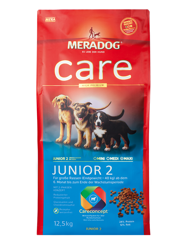 Meradog Care Meradog Care Junior 2 Dog Food Meradog The Best For