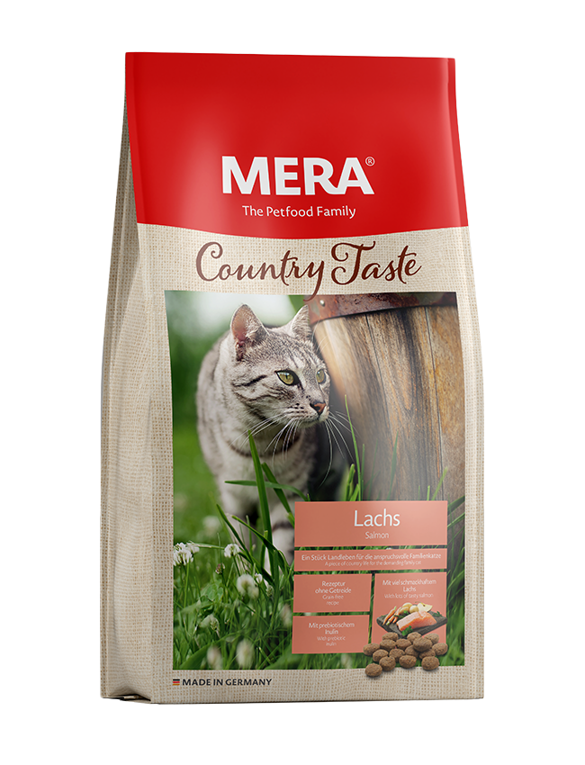 Cat food MERA Country Taste Salmon dry food for the family cat