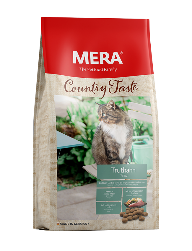 Cat food MERA Country Taste Turkey dry food for the family cat