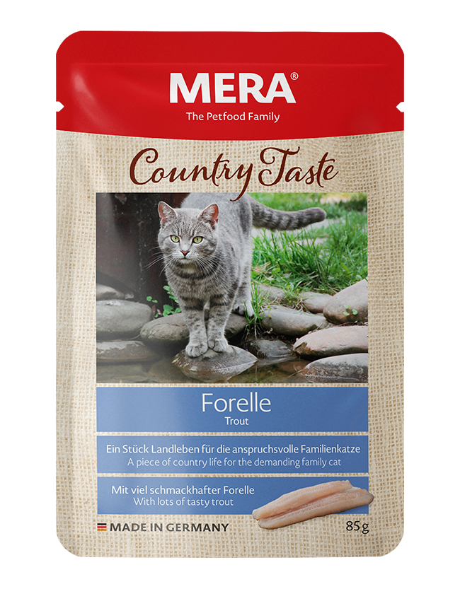 Cat food MERA Country Taste Trout wet food for the family cat