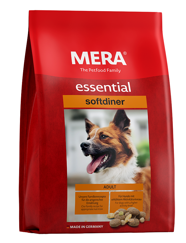 Dog food MERA essential softdiner The mixed menu for adult dogs with higher energy requirements