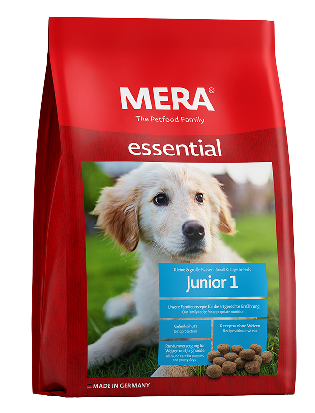 Dog food MERA essential  Junior 1 All-round care for puppies and young dogs
