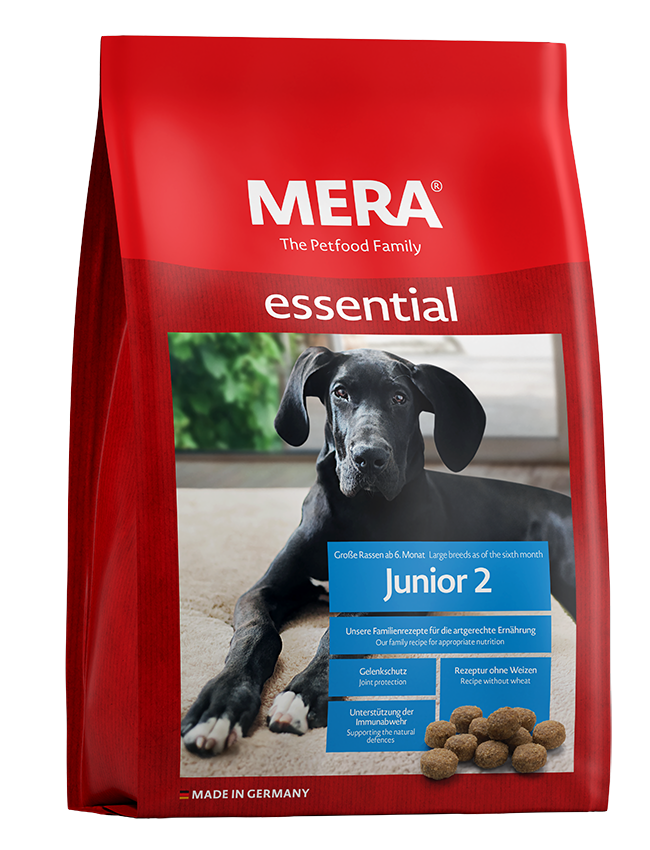 Dog food MERA essential Junior 2 For large breeds after the 6th month