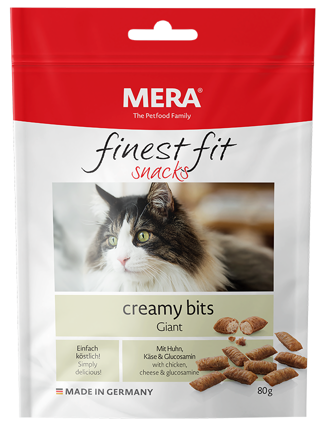 Cat food MERA finest fit creamy bits Giant Snack for large cats