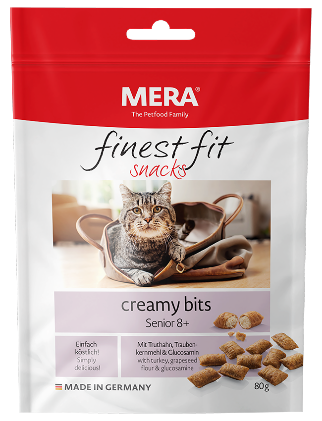 Cat food MERA finest fit creamy bits Senior 8+ Snack for older cats