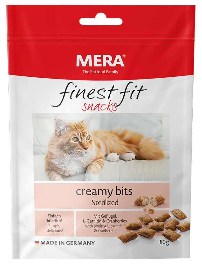 Cat food MERA finest fit creamy bits Sterilized Snack for neutered and sterilised cats