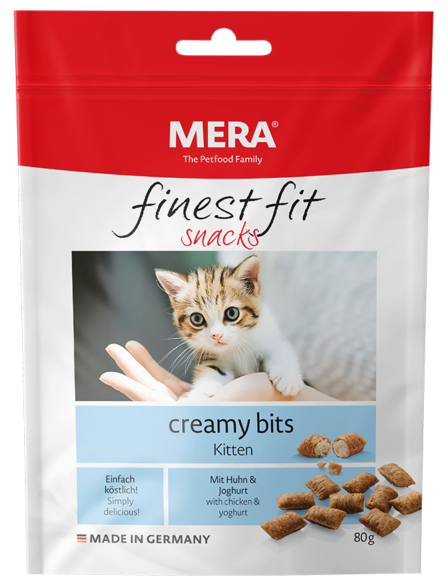 Cat food MERA finest fit creamy bits Kitten Snack for growing cats