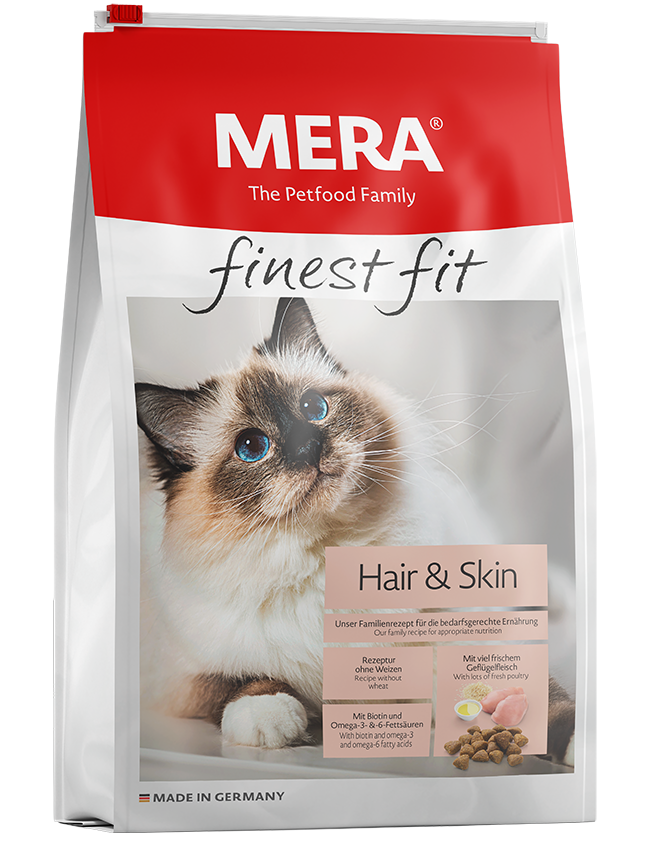 Cat food MERA finest fit Hair&Skin Dry food for cats with skin or coat problems