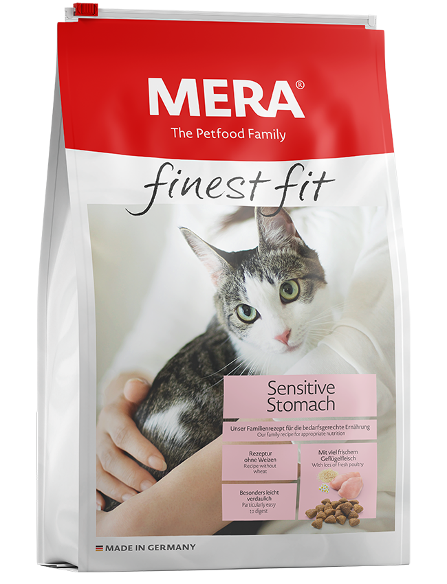 Katzenfutter MERA finest fit Sensitive Stomach Trockenfutter für sensible Katzen