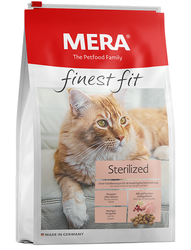 Cat food MERA finest fit Sterilized Dry food for sterilised or castrated cats