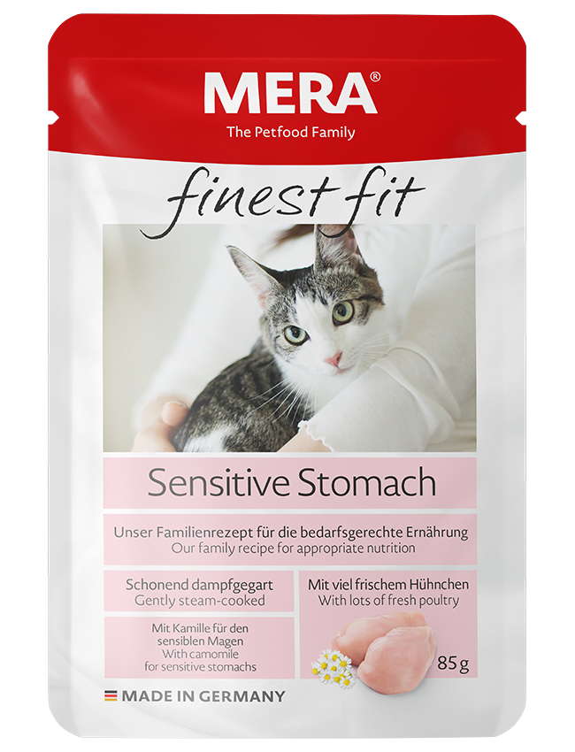 Katzenfutter MERA finest fit Sensitive Stomach Nassfutter für sensible Katzen