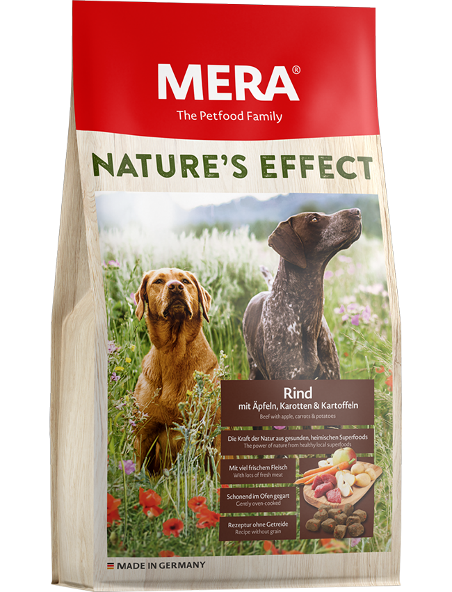 Dog food Nature´s Effect Beef with apple, carrots & potatoes