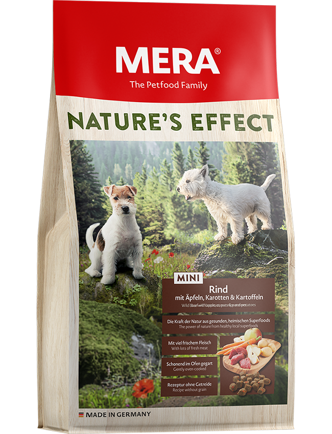 Dog food Nature´s Effect Mini Beef with apple, carrots & potatoes