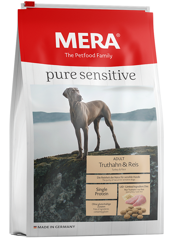 Dog food MERA pure sensitive turkey & rice for sensitive dogs