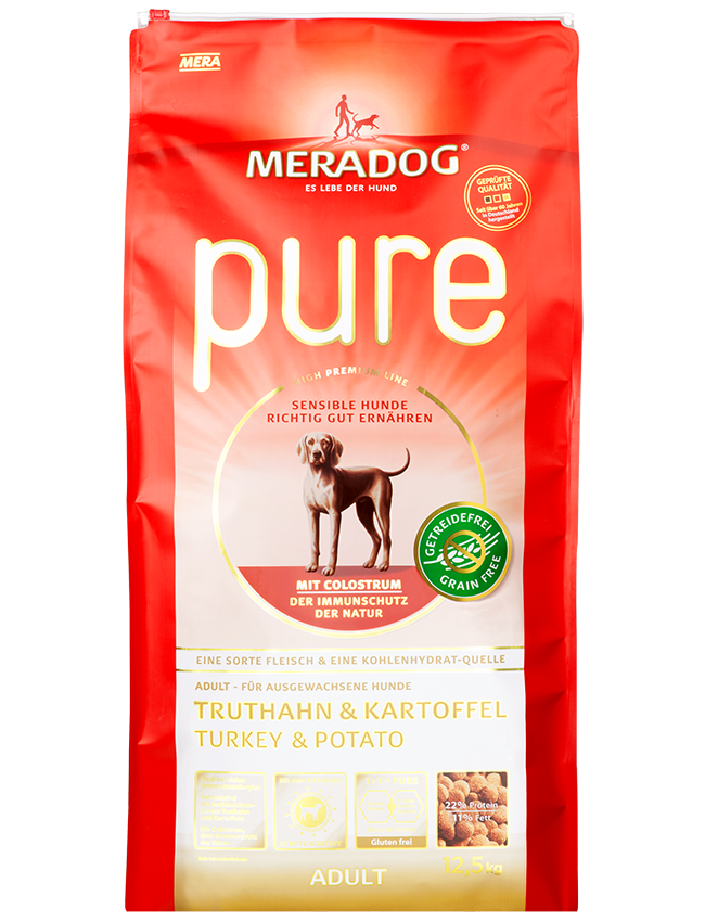 Dog food Meradog pure adult turkey & potato