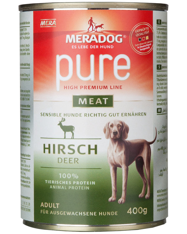 Dog food Meradog pure meat deer