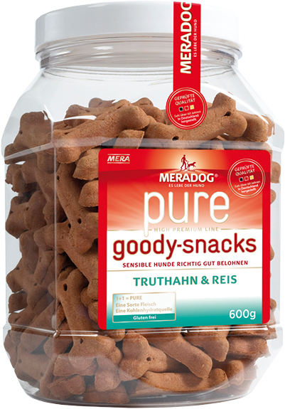 Dog food Meradog pure goody snacks turkey & rice