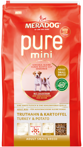 Dog food Meradog pure mini adult turkey & potato